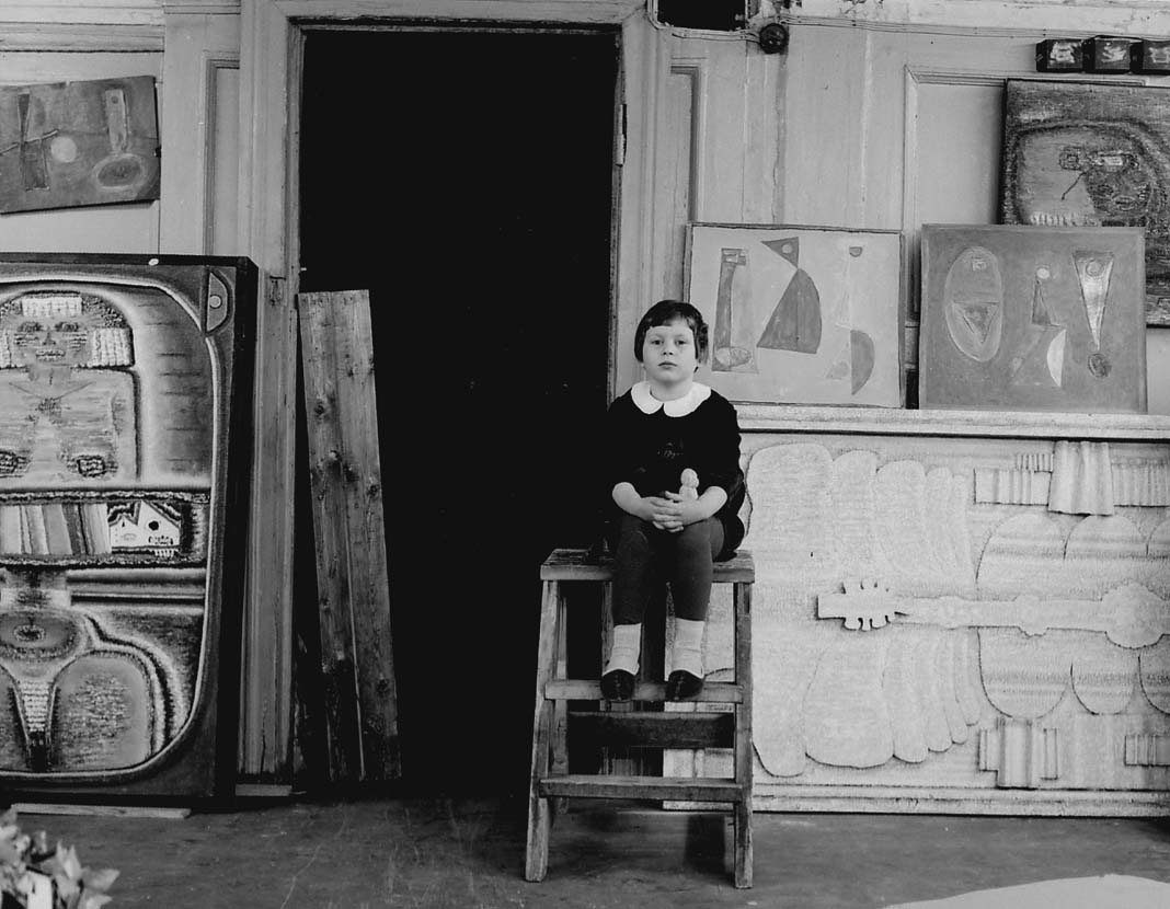Daughter Lena in the studio on Ulansky Lane. Moscow, 1968