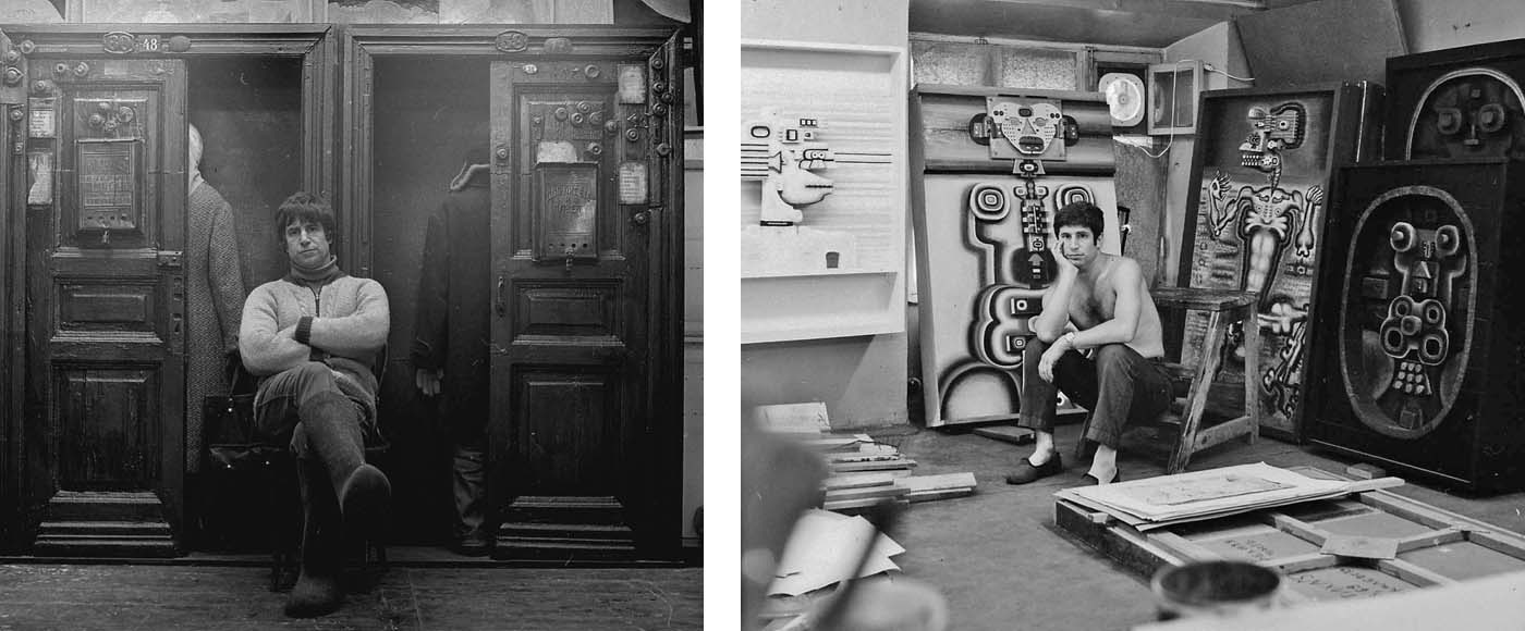 In the studio on Russakovskaia Street. Moscow, 1979; In the studio on Ulansky Lane. Moscow, 1970