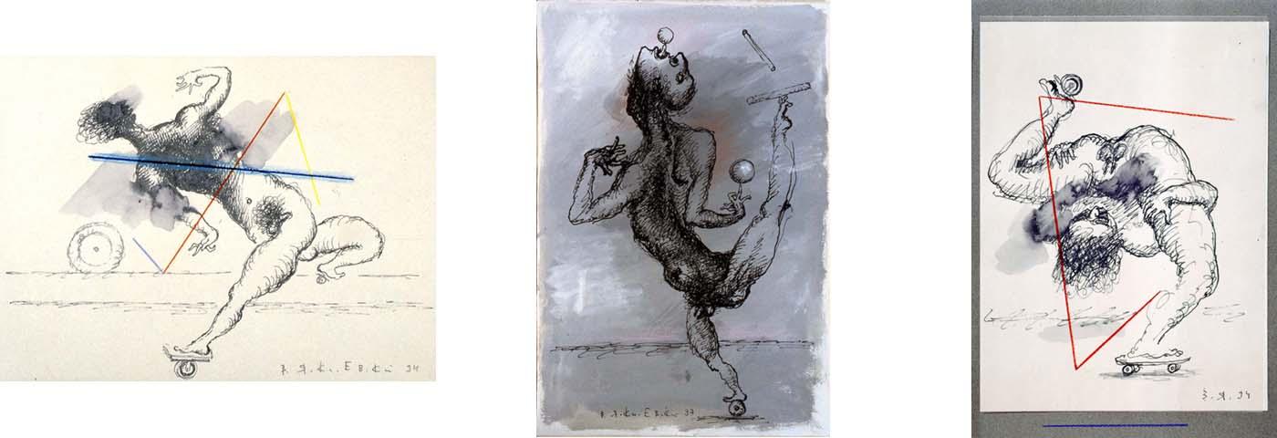 Roller-skate Dance; The Juggler; Equilibrist